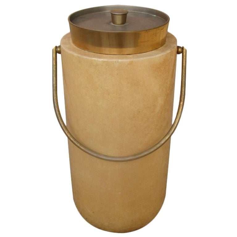 Aldo Tura Large Parchment Champagne Ice Bucket For Sale