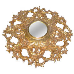 Regency Copper and Gold Gild Mirror