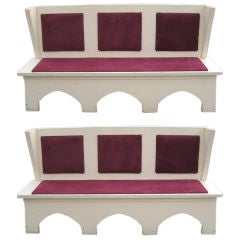 Pair of NYC Historical Landmark City Center Wingback Banquettes