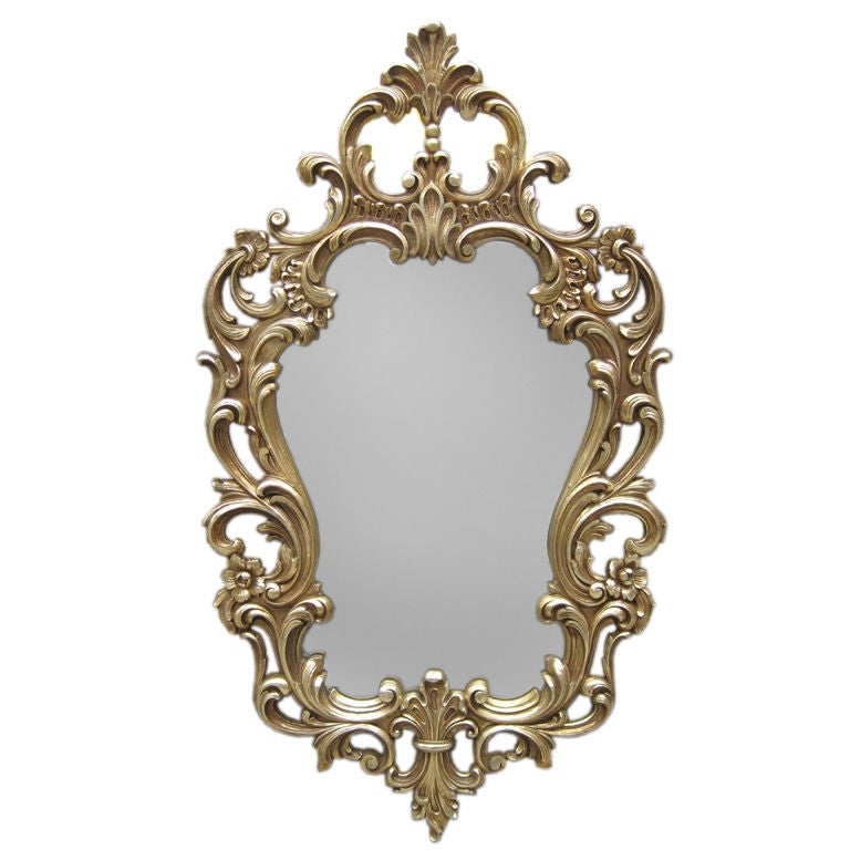 White gold hollywood mirror for sale at 1stdibs for White and gold mirror