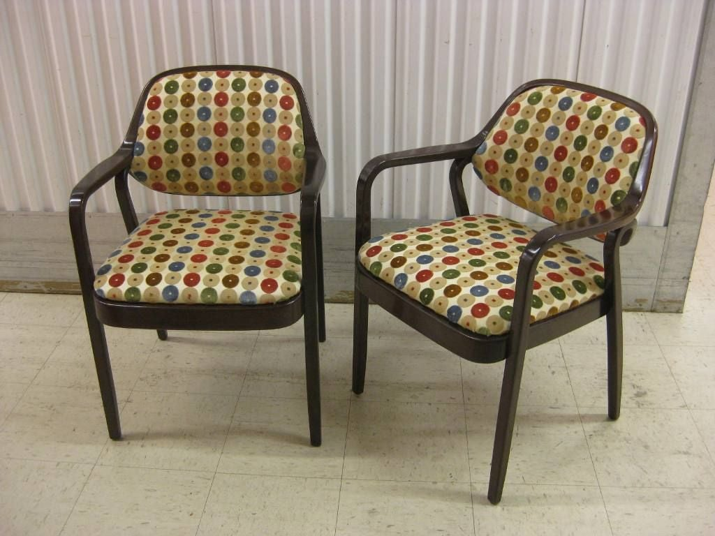 Pair of knoll occasional dining chairs at stdibs