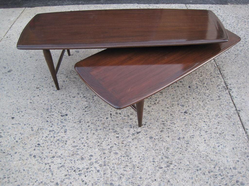Modular surfboard cocktail table at 1stdibs for Modular coffee table