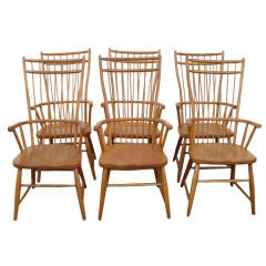Set of Six Windsor Tall Back Dining Chairs