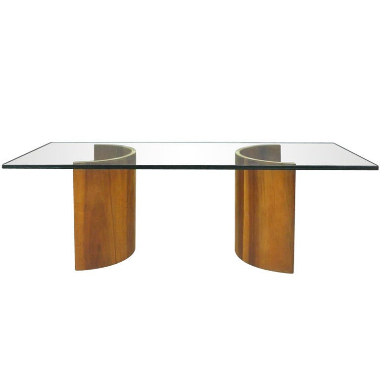 Half Barrel Cocktail Table At 1stdibs