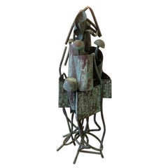 Brutalist Sculpture in the Manner of Harry Bertoia