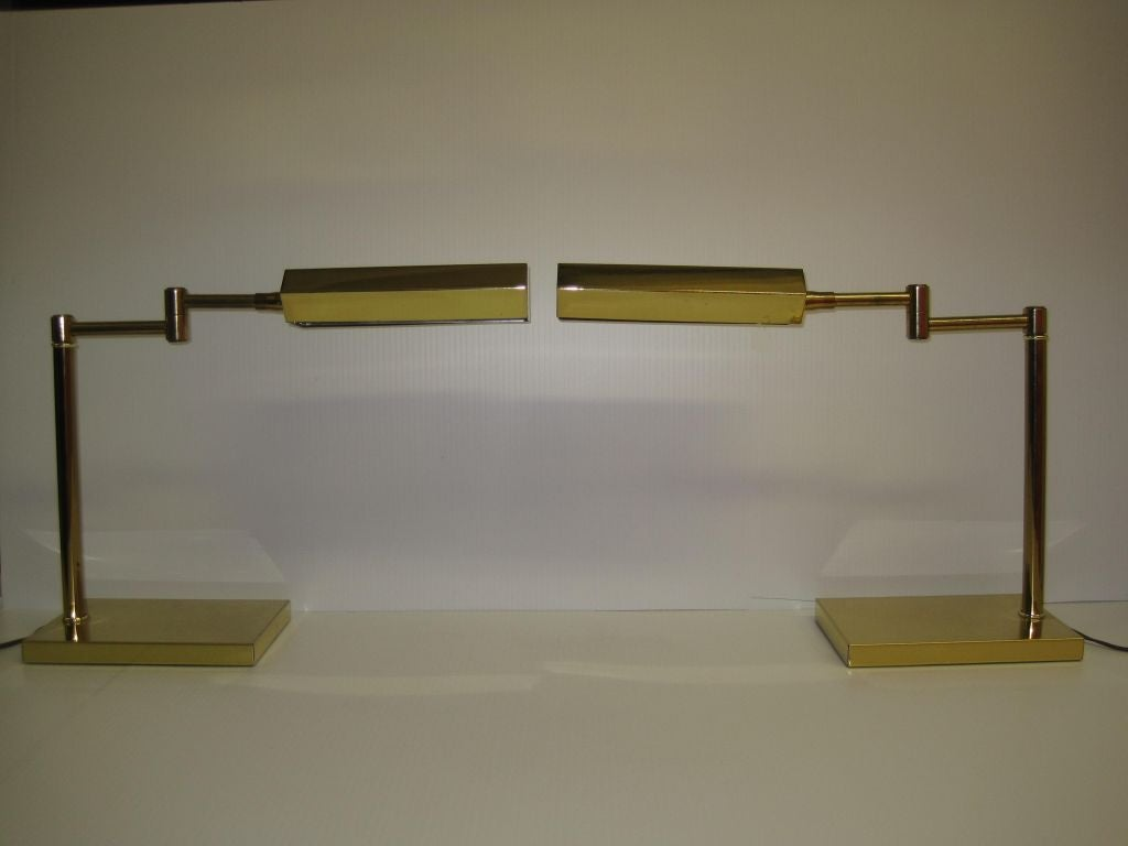 Pair Of Swivel Head Swing Arm Desk Lamps For Sale At 1stdibs