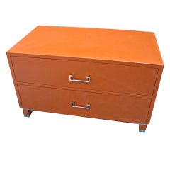 Baker Floating Orange Dual Sided Two-Drawer Cocktail Table