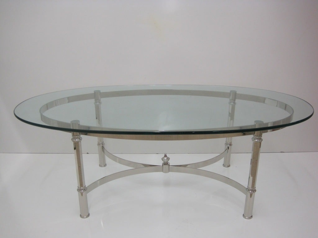 Nickel cocktail table attributed to la barge for sale at for Cocktail tables for sale used
