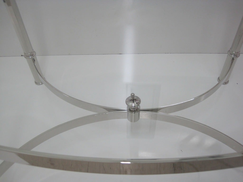 Nickel Cocktail Table Attributed to La Barge In Excellent Condition For Sale In Bronx, NY