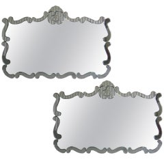 Wavey Art Deco Single or Unmatched Pair of Large Mirrors