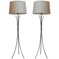 Pair of  Arturo Pani Tripod Floor Lamps