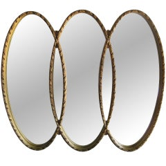 Hollywood Regency Large Mirror after LaBarge