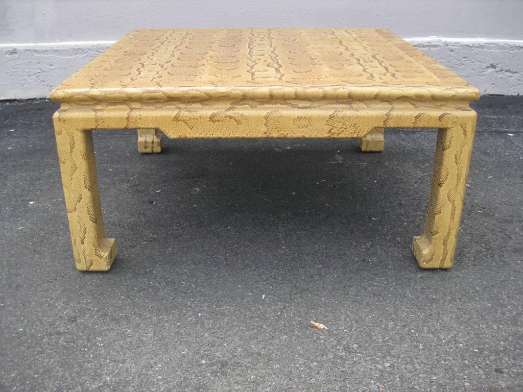 Karl springer python cocktail table for sale at 1stdibs for Table in python