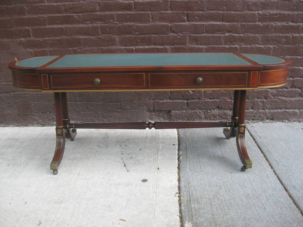 Blue Leather Cocktail Table Attributed To Baker For Sale. Table Number Card Holders. Costco Folding Tables. Professional Massage Table. Workbenches With Drawers. Microsoft Excel Help Desk. Stores That Sell Computer Desks. Queen Beds With Storage Drawers Underneath. Drawer Ring Pulls