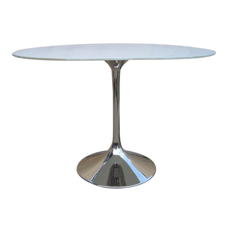 Oval Tulip Small Cocktail or Side Table
