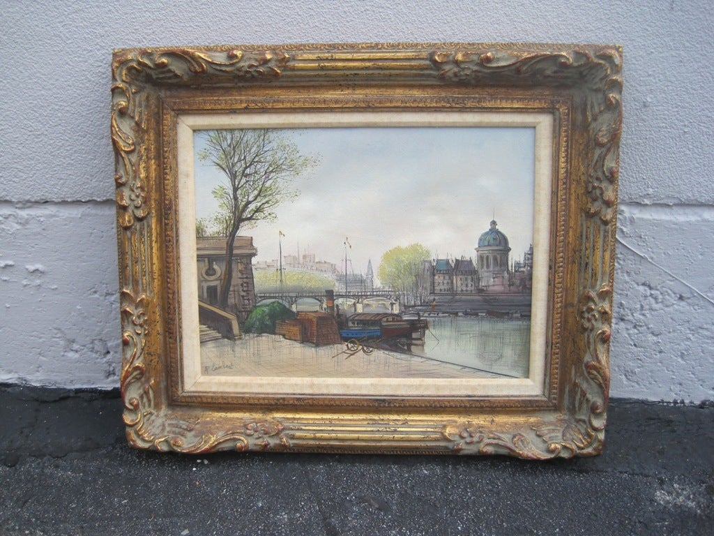 Parisian waterfront scene, with spectacular details.