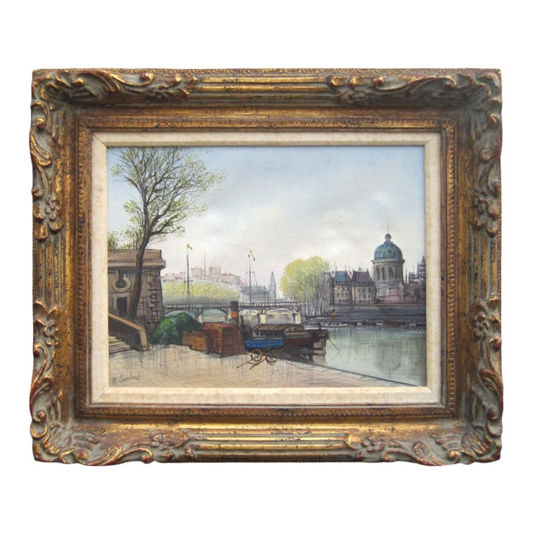Parisian Scene by A Lambert For Sale