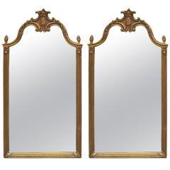 Pair of Tall Gilt Mirrors