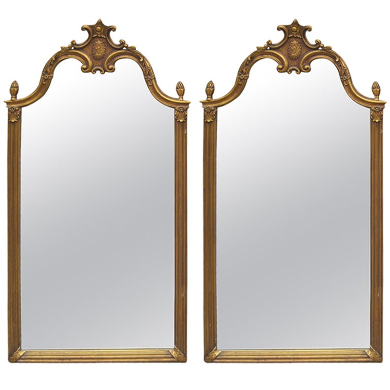 Pair of tall gilt mirrors for sale at 1stdibs for Tall mirrors for sale