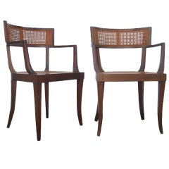 Pair of Klismos Armchairs