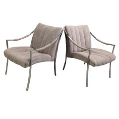 Pair of Milo Baughman Klismos Lounge Chairs