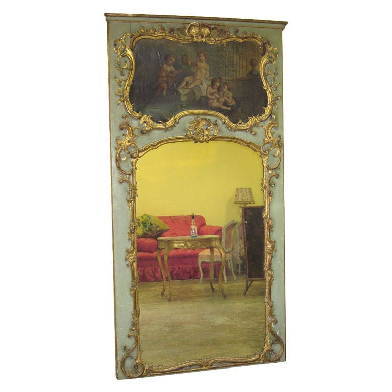 French Trumeau Mirror At 1stdibs