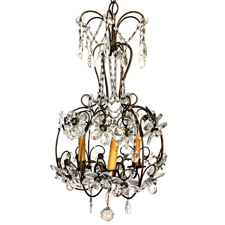 daisy birdcage chandelier at 1stdibs. Black Bedroom Furniture Sets. Home Design Ideas
