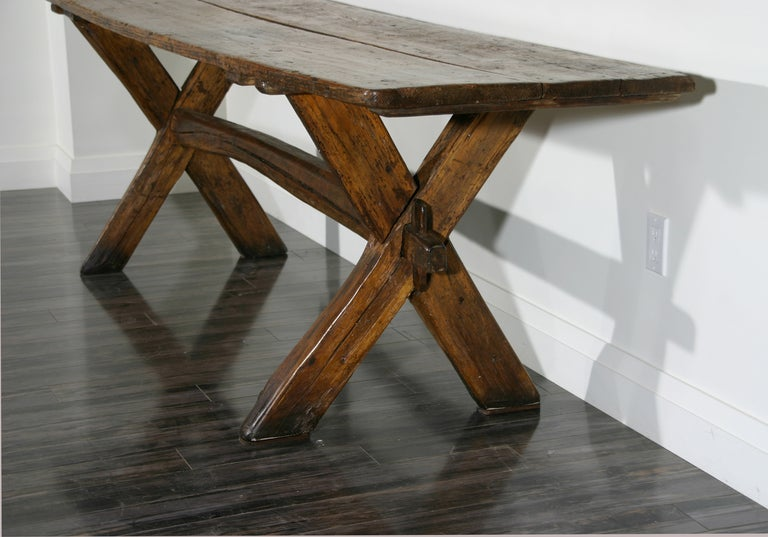 18th Century and Earlier Sawbuck Table For Sale