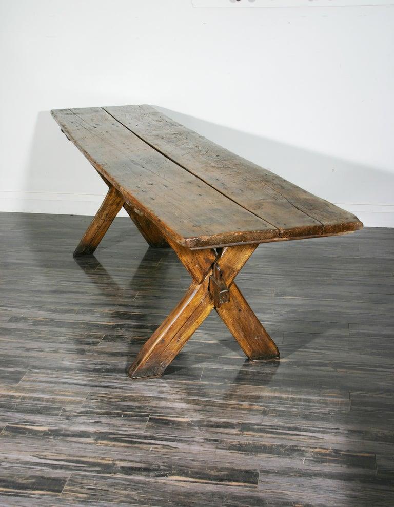 American Sawbuck Table For Sale