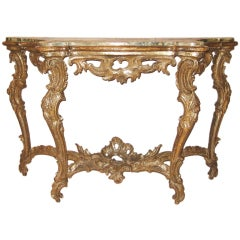 18th Century Gilt Venetian Console