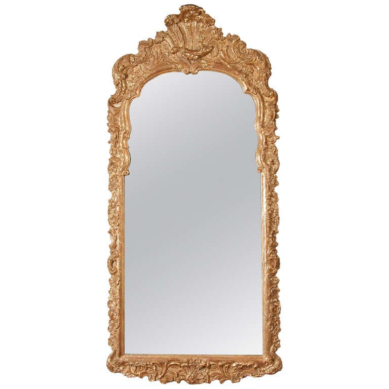 18th century gilt mirror at 1stdibs for Baroque mirror canada