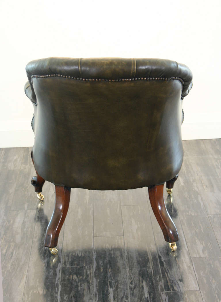 Victorian Leather Tub Chair At 1stdibs