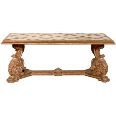 Italian Gilt and Mirrored Coffee Table