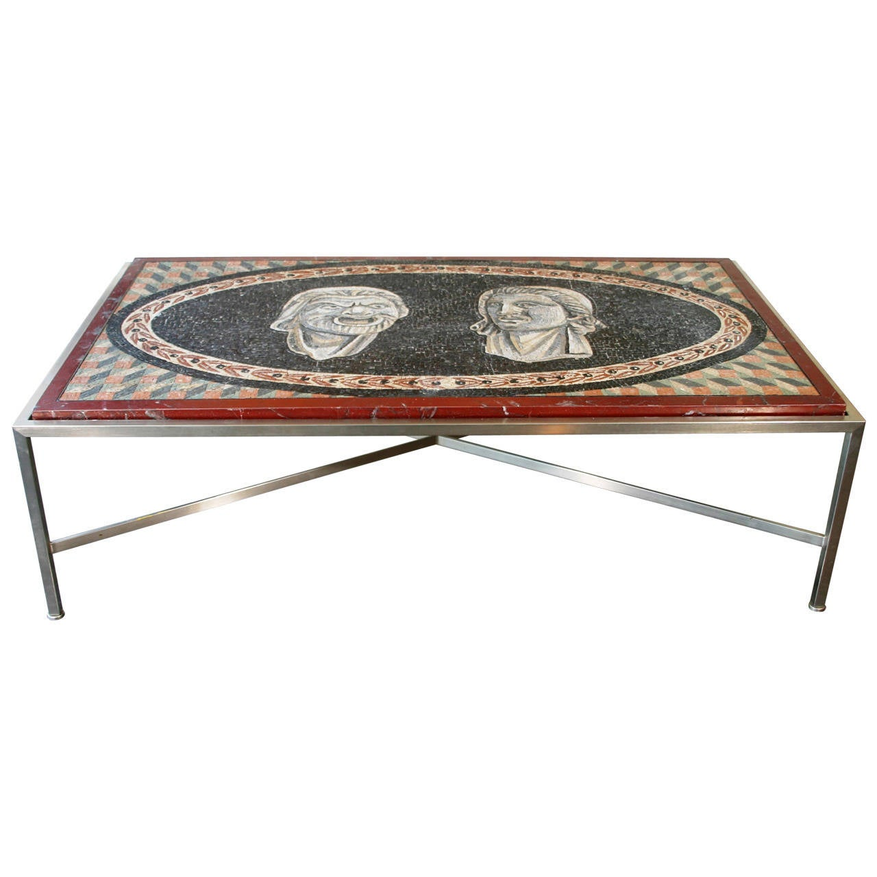 Mosaic Panel Coffee Table For Sale At 1stdibs