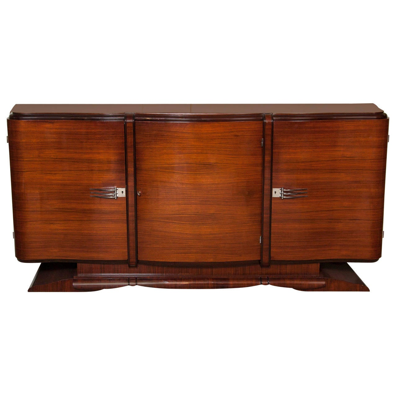 art deco serpentine buffet at 1stdibs. Black Bedroom Furniture Sets. Home Design Ideas