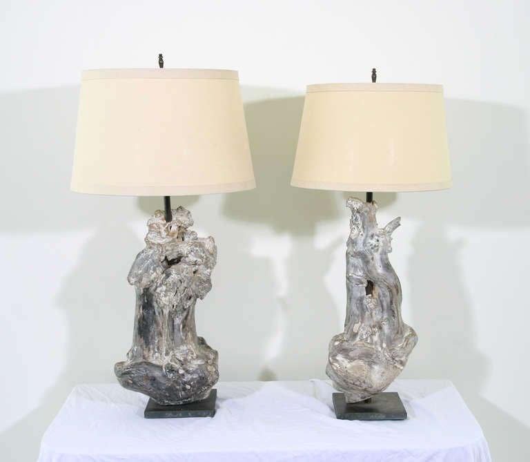 re claimed driftwood lamp for sale at 1stdibs. Black Bedroom Furniture Sets. Home Design Ideas