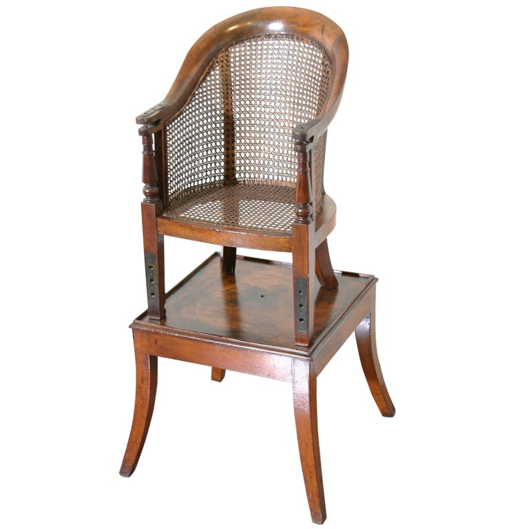 A Regency High Chair and Table at 1stdibs