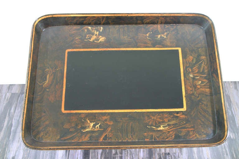 19th Century English Regency Period Tray Table For Sale