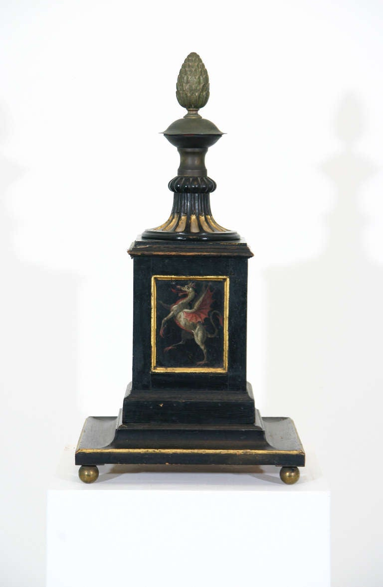 Regency 19th Century Painted Newel Post For Sale