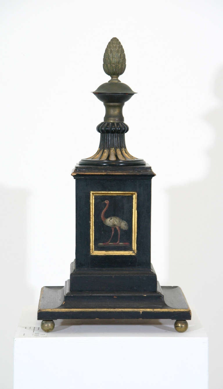 British 19th Century Painted Newel Post For Sale