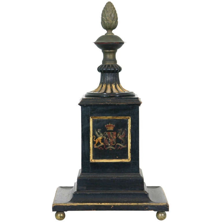 19th Century Painted Newel Post For Sale