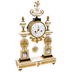 Rare Louis XVI Period with Marble Mantel Clock
