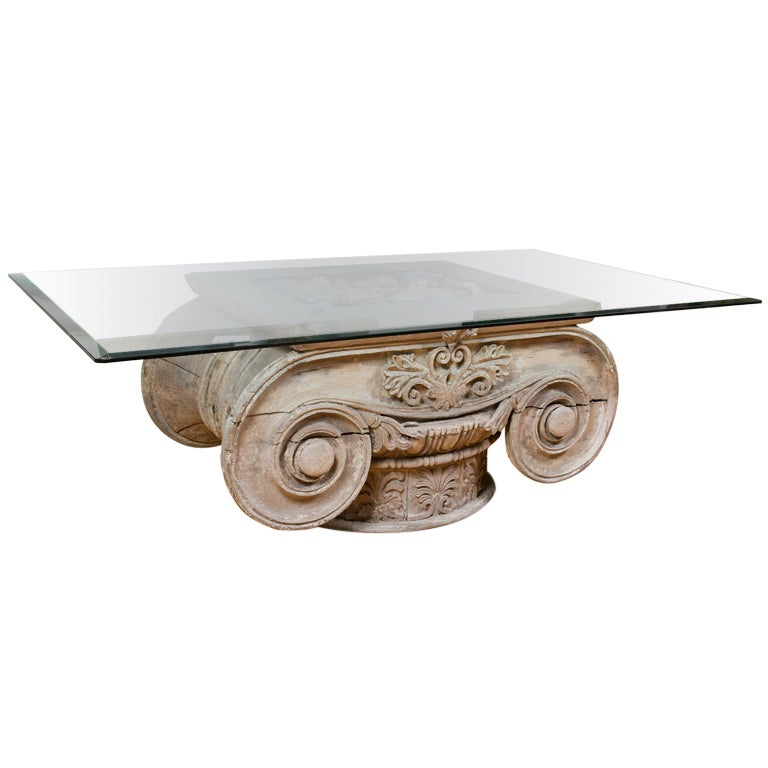 Unique Table Made From Ionic Capital at 1stdibs : XXXioniccolumntablewithshells0011 from www.1stdibs.com size 768 x 768 jpeg 37kB
