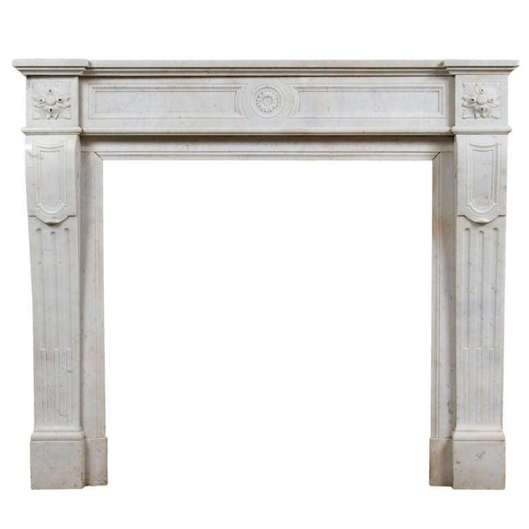 Louis XVI Marble Mantle