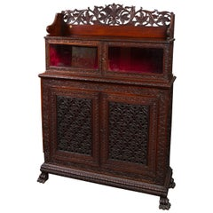Fine William IV Period Anglo-Indian Walnut Cabinet