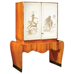 Stunning Art Deco Italian Bar Cabinet