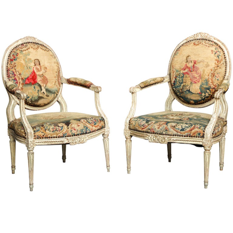 Pair Of 18th Century Louis Xvi Chairs For Sale At 1stdibs