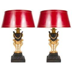 Pair of  Neo-Classical Napoleon III Lamps