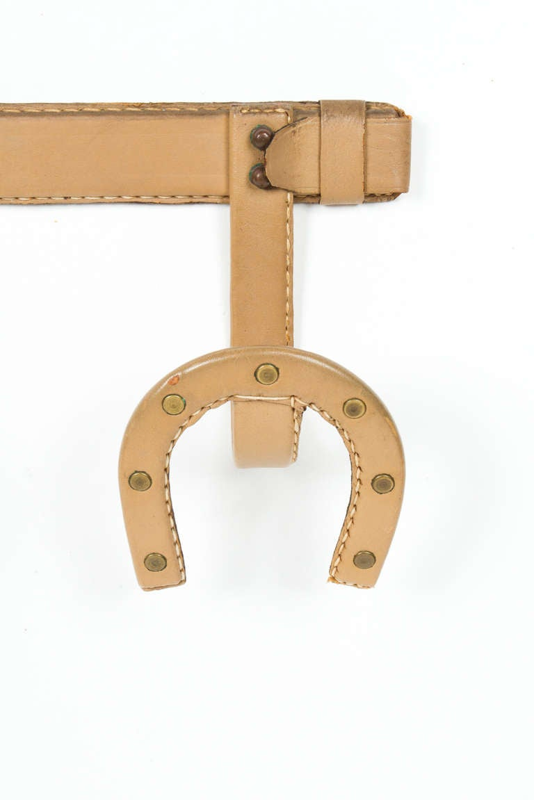 French Unusual Jacques Adnet  Coat Hanger. For Sale