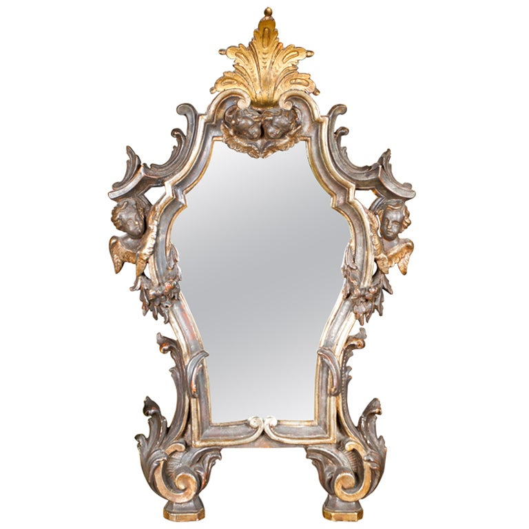 Hair Style Mirror : Silver-Gilt Venetian Mirror at 1stdibs